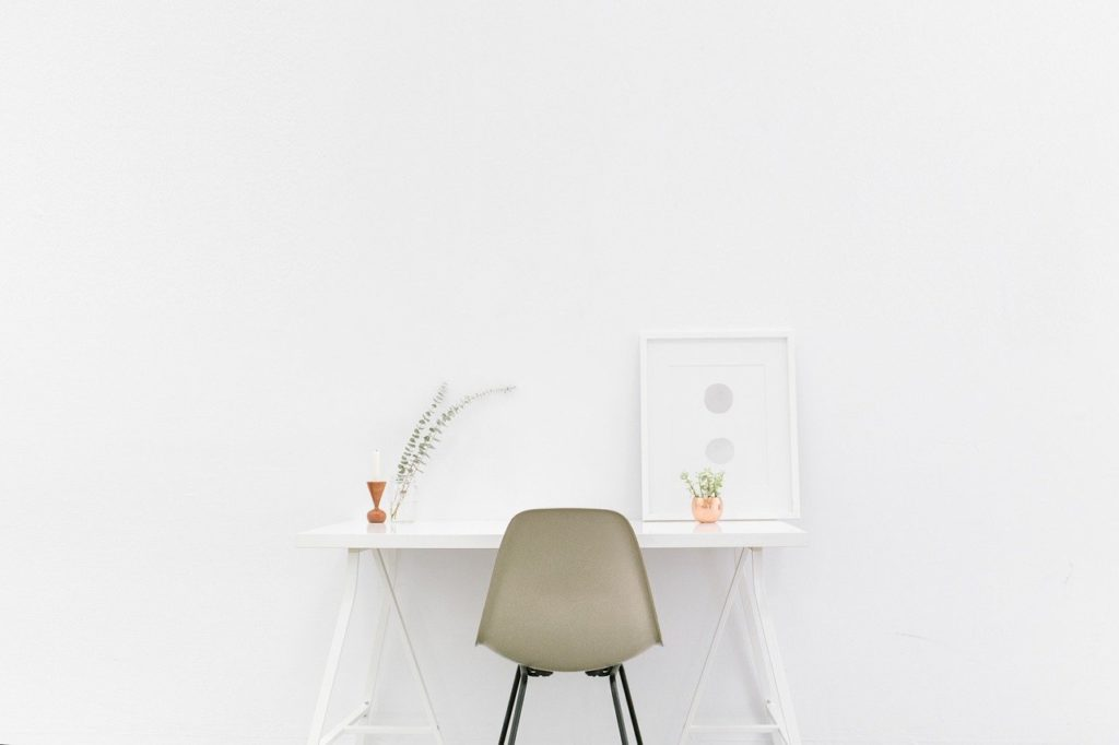 desk, table, simple